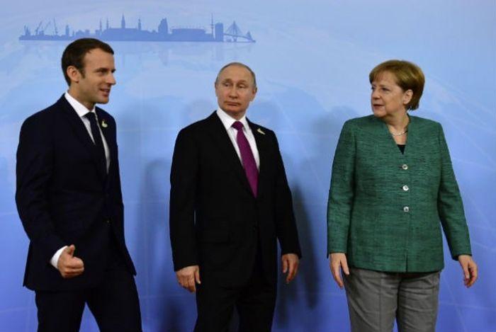 Πούτιν, Μέρκελ, Μακρόν