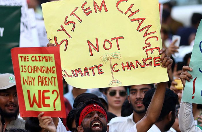 Global Climate protest in Karachi