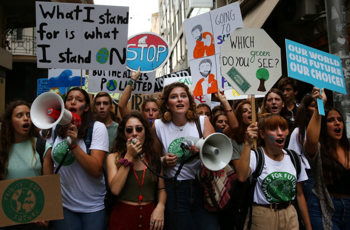 Global climate strike in Athens
