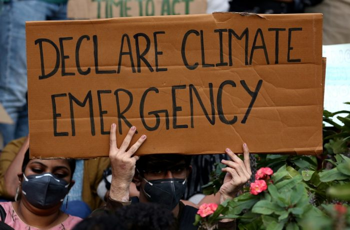 People take part in Global Climate protest in Bangalore