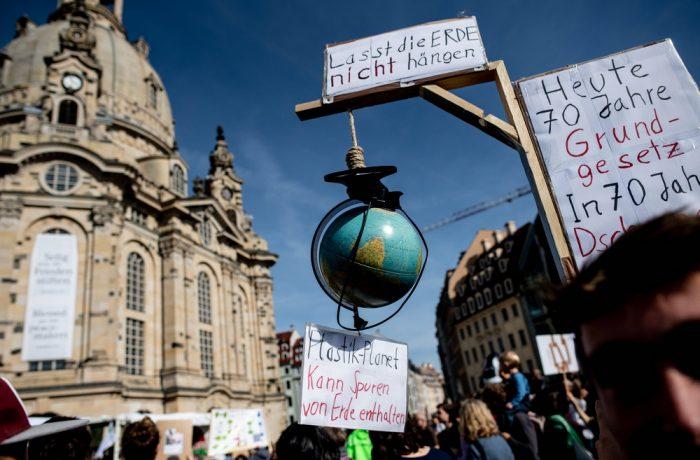 Global Fridays For Future demonstration in Dresden