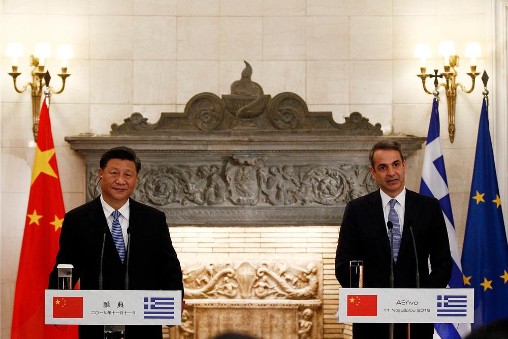 Κοινές δηλώσεις Μητσοτάκη - Σι, κατά την επίσκεψη του Κινέζου προέδρου στο Μέγαρο Μαξίμου