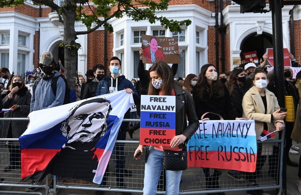 Navalny protests Russia